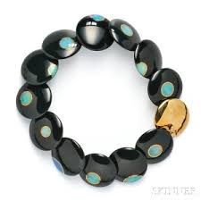onyx bracelet tiffany images Search all lots skinner auctioneers jpg