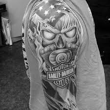 90 harley davidson tattoos for manly motorcycle designs