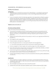 Nanny Job Description Resume by Executive Assistant Job Description Resume Resume For Your Job
