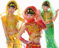 party cosplay indian belly dance kids halloween performance