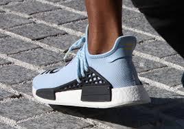 adidas nmd light blue pharrell wears light blue adidas nmd to yeezy season 4