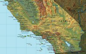 me a map of california me southern california