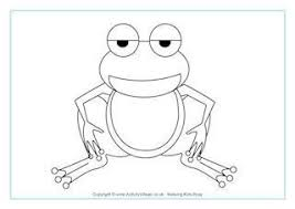 Frogs Frog Colouring Page