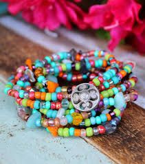 jewelry necklace bracelet images Multi color boho chic necklace and bracelet wrap ever designs jpg