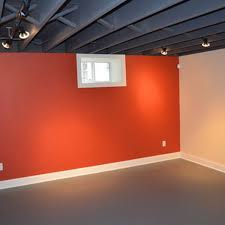 grey painted basement ceiling creative information about home