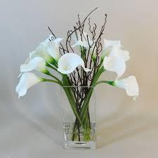 artificial flower arrangements artificial flower arrangement white clv009