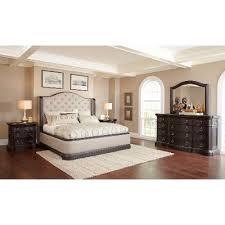 dark oak u0026 linen traditional 6 piece california king bed bedroom