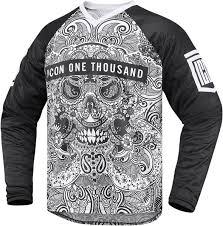 motocross racing apparel icon motorsports 1000 lace face jersey motocross racing apparel