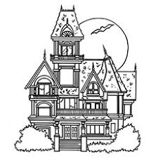 coloring page house top 25 free printable haunted house coloring pages