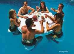 floating table for pool outdoor living ideas