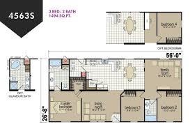 100 3 bed 2 bath floor plans crowne 170 ranch modular home