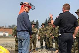 Wild Fires In Canada Bc by Canadian Military Personnel Learn To Fight Fires In Chilliwack