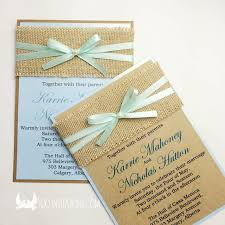 rustic ribbon lace wedding invitations free shipping