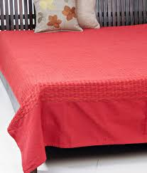 fabindia orange contemporary cotton woven deepali bed cover