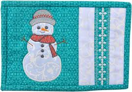 Snowman Rug Winter Mug Rugs Pattern