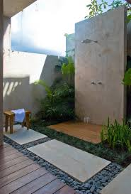 outdoor bathrooms ideas small outdoor bathroom designs shelves on the wall above vanity