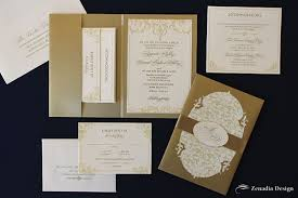 gold wedding invitations gold and wedding invitation zenadia design