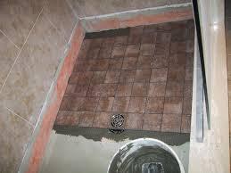 How To Tile A Bathroom Shower Floor Shower Floor Tile Ideas Bathroom Contemporary With Accent