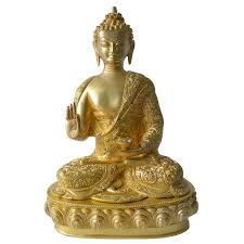 statue with buddha statue with carving brass metal showpiece buy buddha