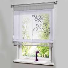 rideau voilage cuisine voilage vitrage pas cher paire de vitrages polyester x cm blanc