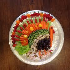 veggie tray turkey christmas2017