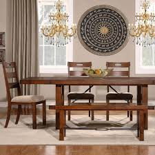 Overstock Dining Room Sets by Tribecca Home Swindon Rustic Oak Turnbuckle 6 Piece Dining Set