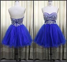 pretty organza a line short royal blue prom dress mini organza