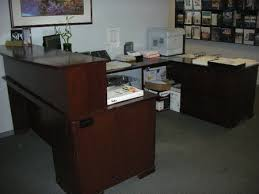 Desk U Shaped Steelcase U Shape Reception Desk Conklin Office Furniture