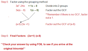 factoring a trinomial with a lead coefficient greater than 1