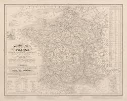 France Maps by 1847 Map Of France Majesty Maps U0026 Prints