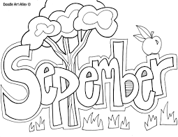 Coloring Pages For September September Coloring Pages Colouring In Fancy Print Printable