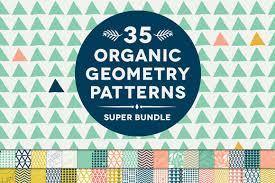 35 organic geometry patterns bundle patterns creative market