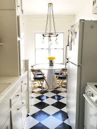 What To Do With Leftover Tile by Brady U0027s Diy Peel And Stick Kitchen Flooring For Under 50