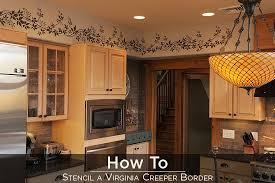 kitchen stencil ideas how to stenciling a border stencil stories