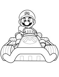 dessins gratuits à colorier coloriage mario kart à imprimer