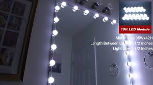 full length mirror with led lights make up mirror led light kit review crystal vision youtube