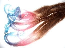 Hair Extension Tips by Ready To Ship Pastel Rainbow Hair Extension Tips Dip Dyed
