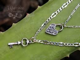 couples necklace deluxe sterling silver key to my heart couples necklace set 2 4