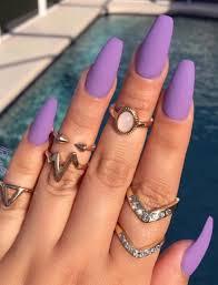 lavender easy diy matte nails design ideas for 2017 nails