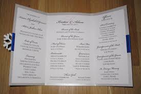 wedding ceremony programs diy diy we winter wedding ceremony program bridalguide