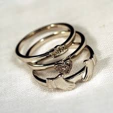 claddagh rings meaning stackable claddagh ring on the hunt