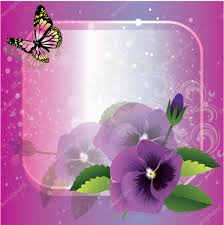Beautiful Flowers Vector Frame With Beautiful Flowers And Butterfly U2014 Stock Vector