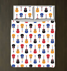 Guitar Duvet Cover Custom Guitar Bedding Set Fo Kids And Teens Any Color U2013 Shop