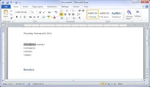 How To Build A Resume On Word 2010 Creating Mail Merge Templates In Ms Word 2010