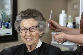 old ladies hair salon cutcaster photo 100671692 senior woman at the hair salon jpg 450