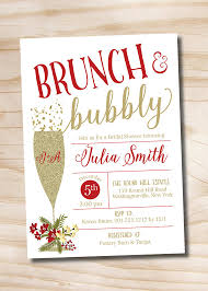 christmas brunch invitations brunch and bubbly christmas and gold bridal shower invitation