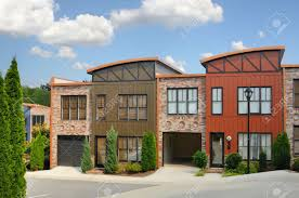 modern row apartments stock photo picture and royalty free image