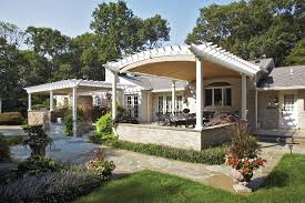 Retractable Awning Pergola Pergola Stone Bases Patio Traditional With Flagstone Traditional