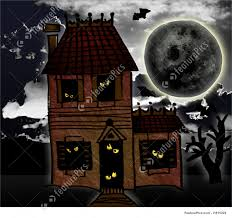 illustration of halloween spooky house