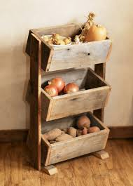potato bin vegetable bin barn wood rustic kitchen decor
